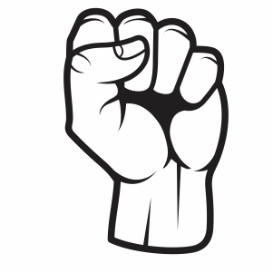 Black Lives Matter Fist Vector