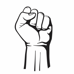 Black Power Clenched Fist Vector