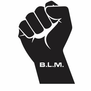 Black Lives Matter hand svg
