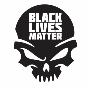 Black Lives Matter Punisher Skull Vector
