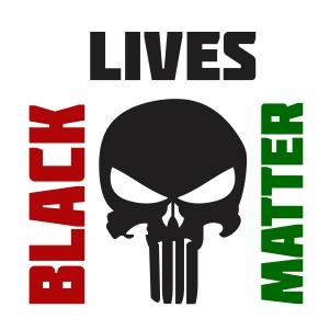 Black Lives Matter Punisher Vector