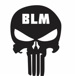 Black Lives Matter Skull Vector