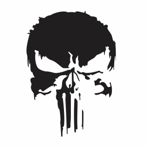 Black Punisher Skull svg
