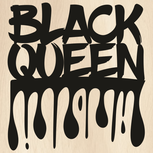 Black Queen Drip Svg