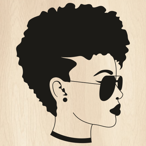 Afro woman Svg