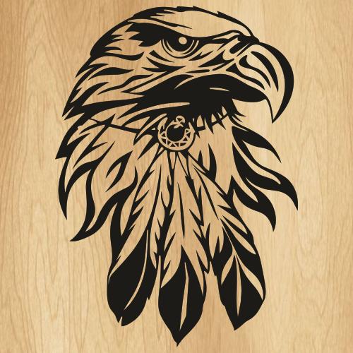 Boho Bald Eagle Svg