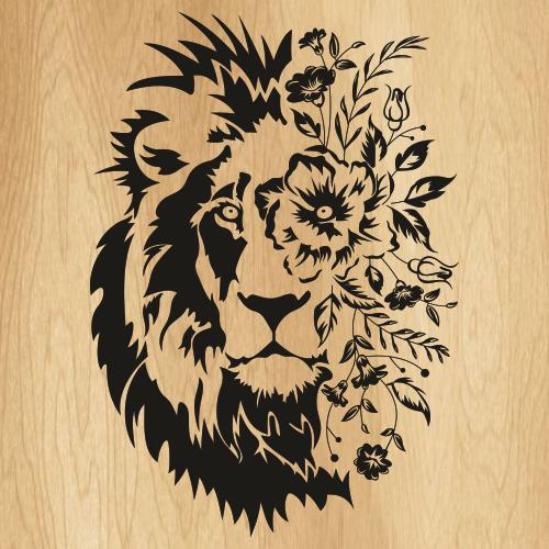 Boho Lion Svg