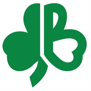 Boston Celtics Shamrock With B logo svg cut