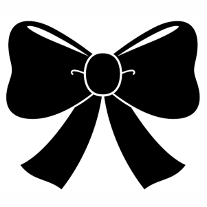 Bow ribbon Silhouette svg cut file