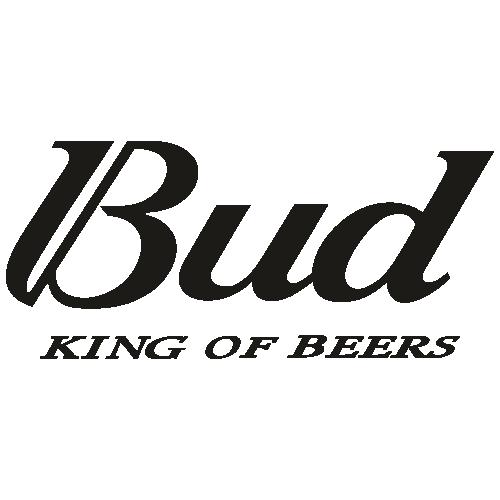 Bud King of Beers black SVG