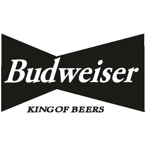 Budweiser King of Beers Black Svg