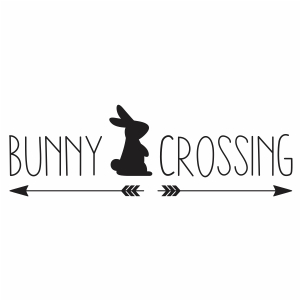 Bunny crossing svg cut file
