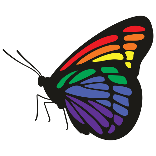 Butterfly With Beautiful Colours Svg
