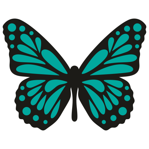 Butter Fly Colour Svg