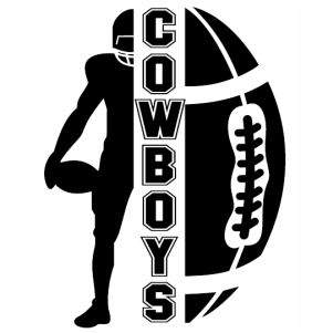 Cowboys Ball svg cut file