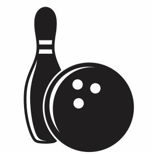 Bowling Ball And Bowls Svg