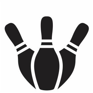 Three Bowling Pins Svg