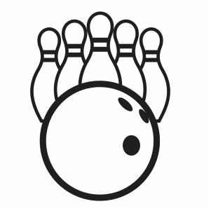 Bowling Ball Pins Sport Svg