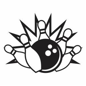 Bowling Pin Strike Svg