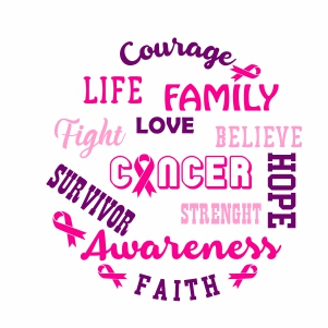 Cancer Love Believe Life Svg