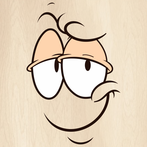 Cartoon Face Expression Svg