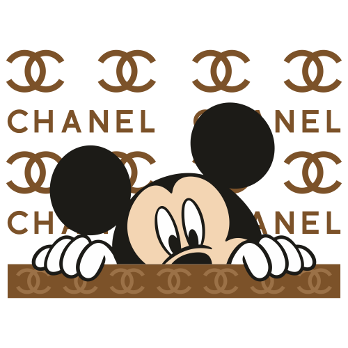 Chanel Mickey Mouse Svg