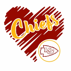 Kansas City Chiefs Logo vector | Kansas City Chiefs Heart ...