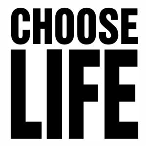 Choose life logo Vector file