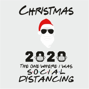 Christmas 2020 Social Distancing Vector