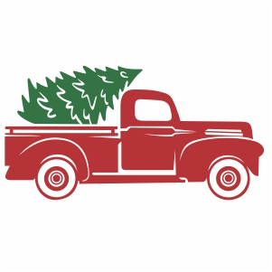 Christmas Truck and Tree svg cut