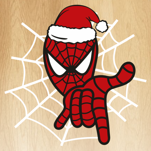 Christmas with Spiderman Svg