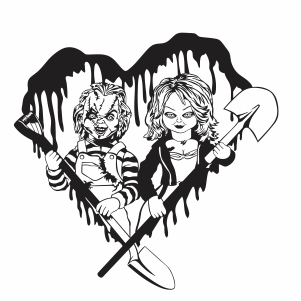 Chucky and Tiffany Vector