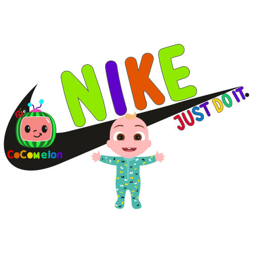 CocoMelon With Nike Logo Clipart