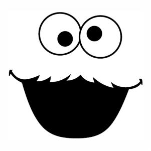 Cookie Monster face logo svg