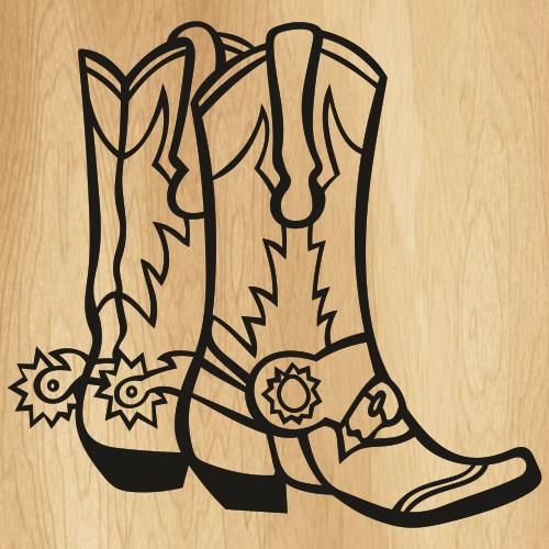 Cowboy Boots Drawing Svg