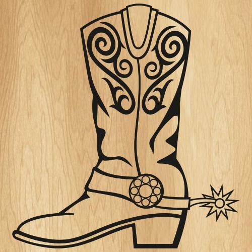 Cowboy Boot Svg