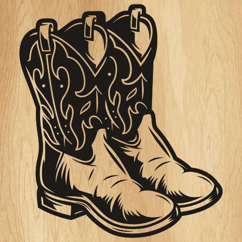 Cowboy Boots Design SVG