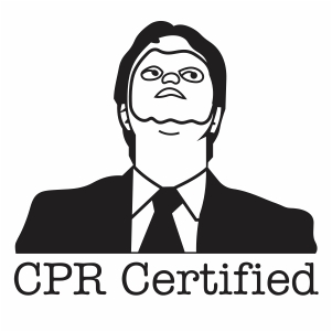 Dwight Schrute CPR Certified Svg