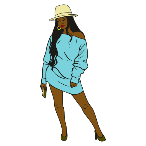 Afro Urban Fashionista Svg