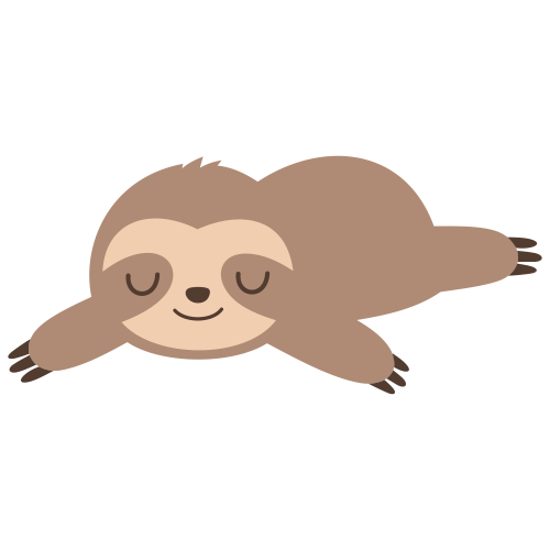 Sloth Sleeping Svg