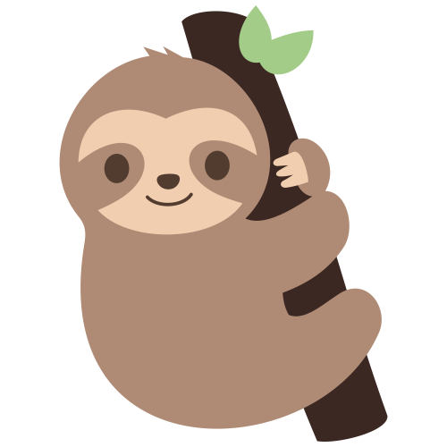 Cute Sloth Svg