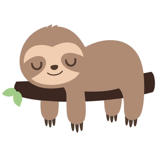 Sloth Sleeping On A Branch Svg