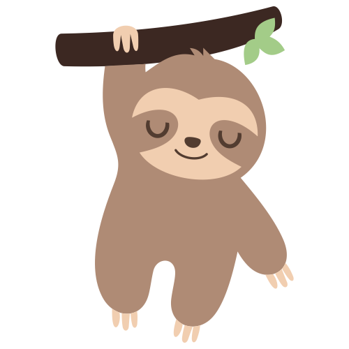 Sleeping Sloth Svg