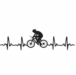 Cycling Heartbeat Svg