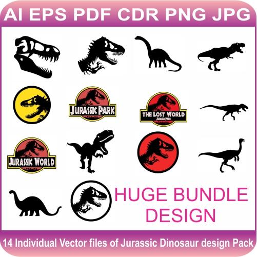 Jurassic Dinosaur Pack Design