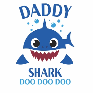 Daddy Shark Doo Doo Doo doo vector