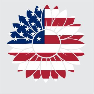 Patriotic Sunflower Svg
