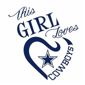 This Girl Loves Cowboys SVG