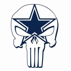 Dallas Coyboys Skull Svg
