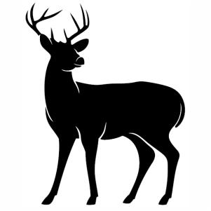 Deer Buck Standing Vector Black Deer Vector Image Vector Psd Png Eps Ai Format Vector Graphic Arts Downloads